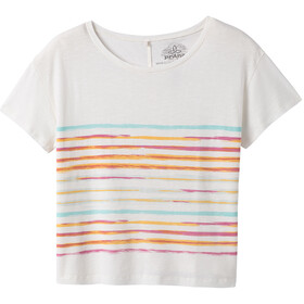 Prana Chez SS Tee Women soft white stripe